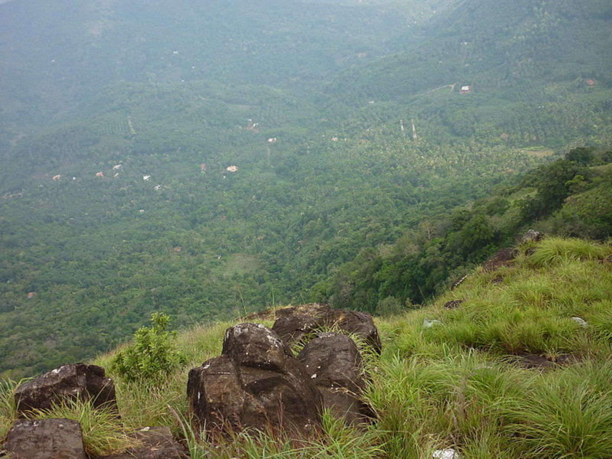 Paithal Mala Hill Station, Kerala - A Top View.