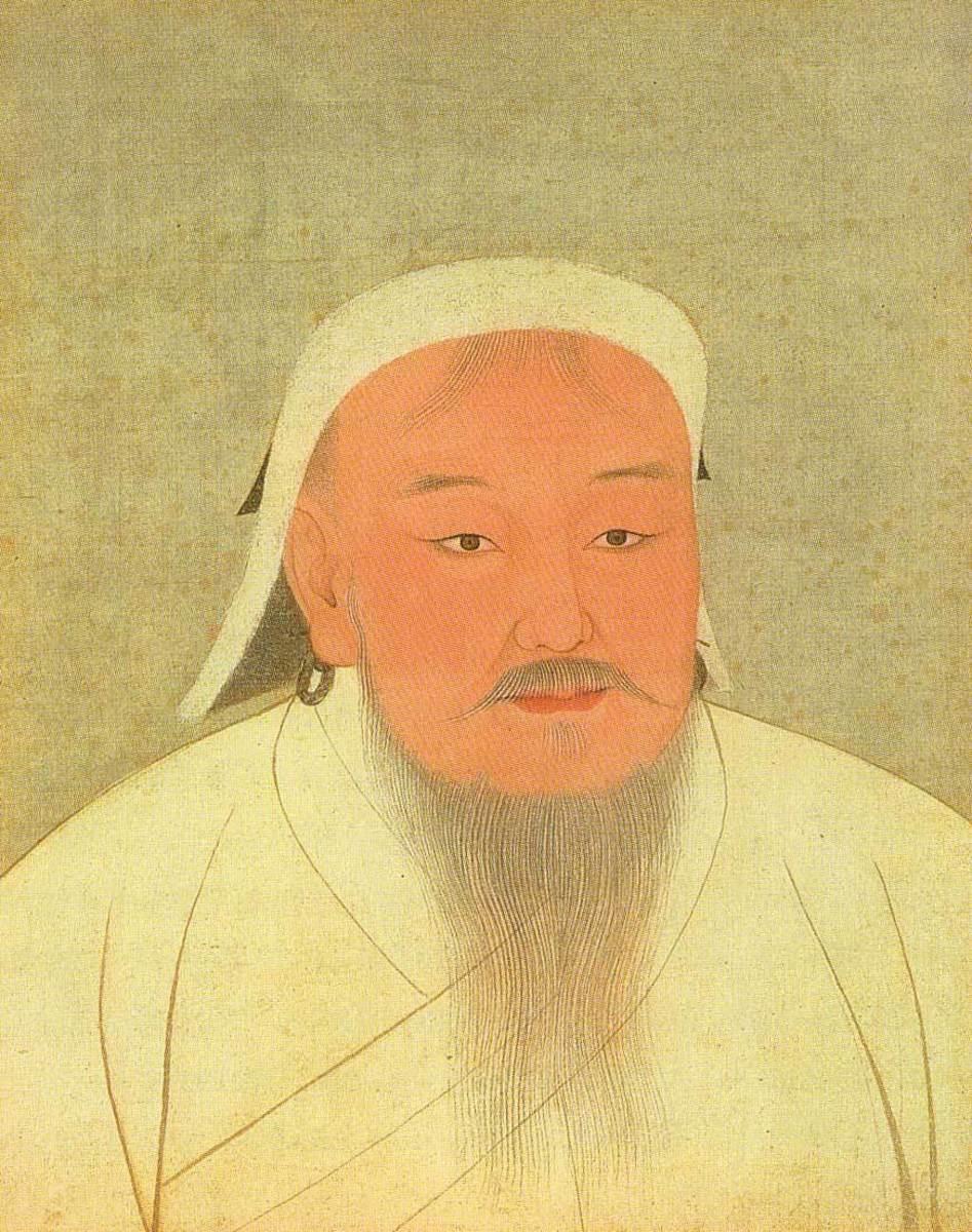 Genghis Khan's picture at the National Palace Museum in Taipei, Taiwan.