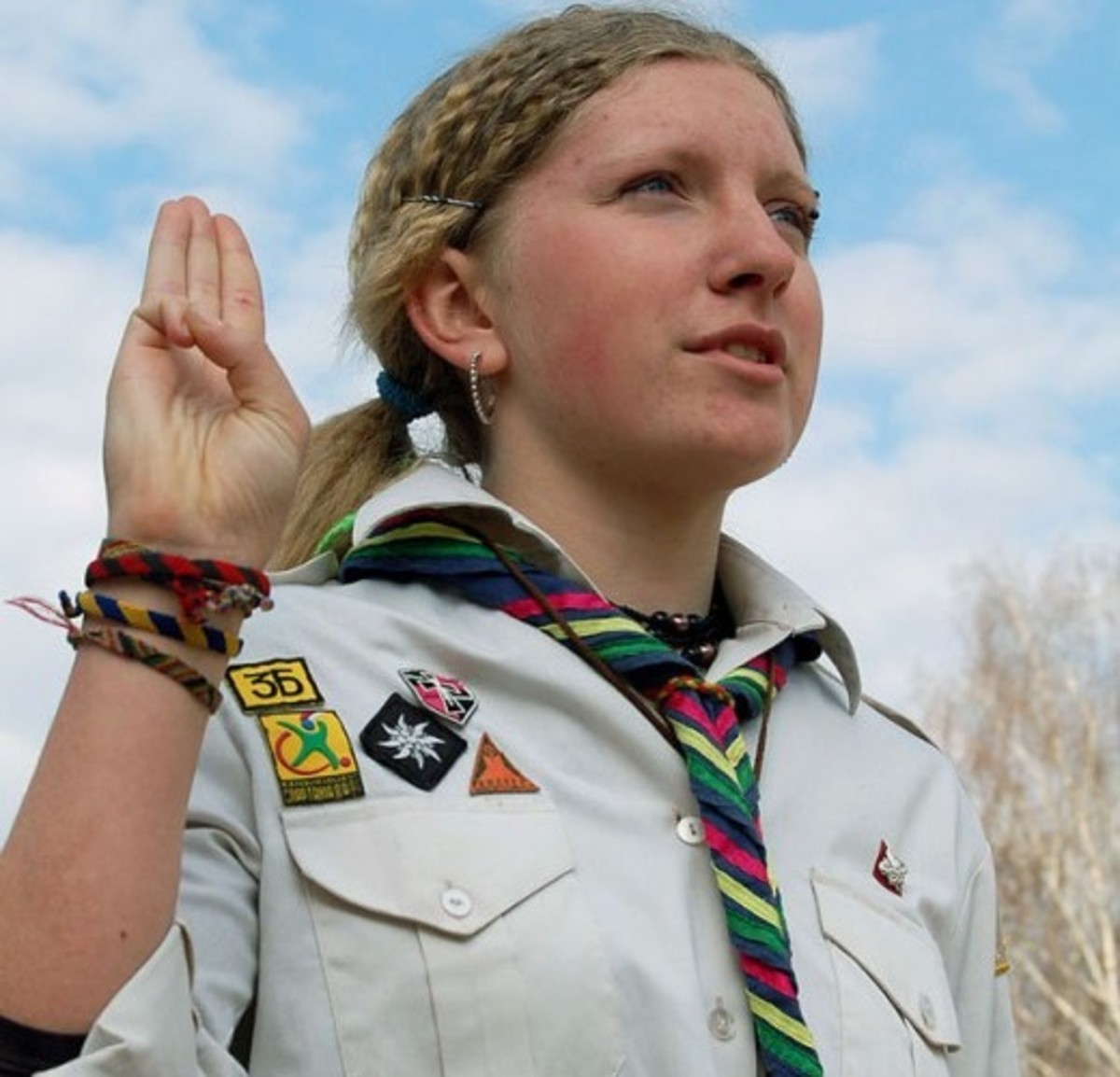 The scouts' salute demonstrates self-respect, and respect for others.