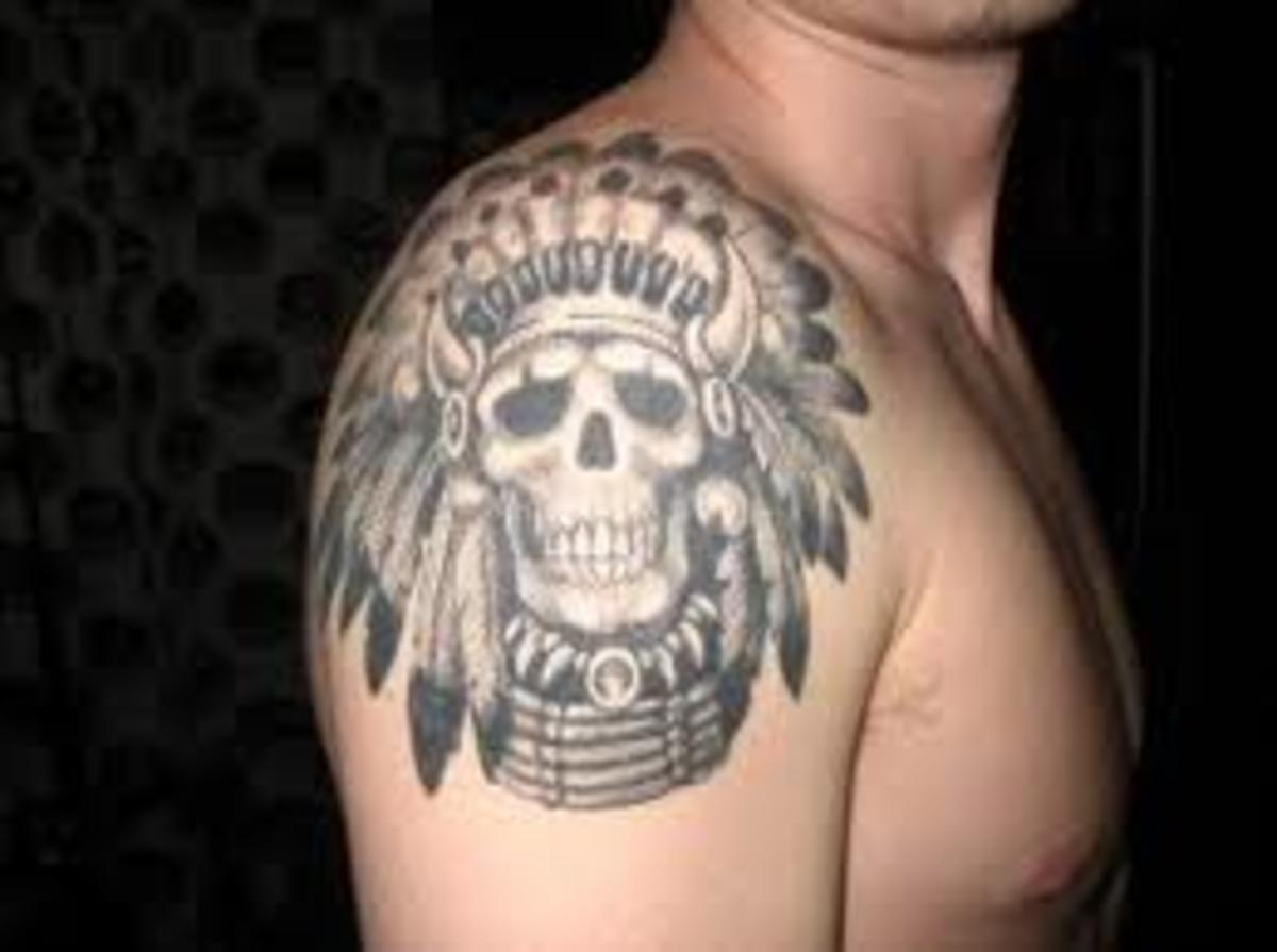 Native Indian Tattoo Designs-Indian Headdress Tattoos Designs Ideas