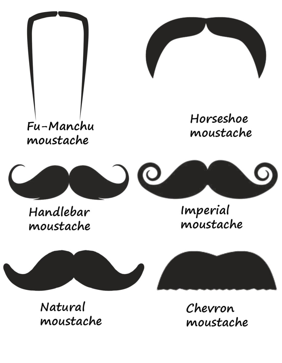 Different Types of Mustaches created in Photoshop