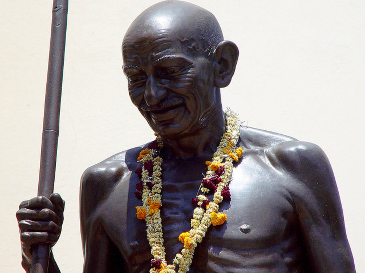 Standing larger than life - Mahatma Gandhi at Baroda (Vadodara), India