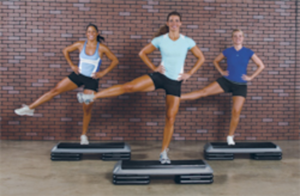 The Step Original Health Club Step Platform with 4 Risers