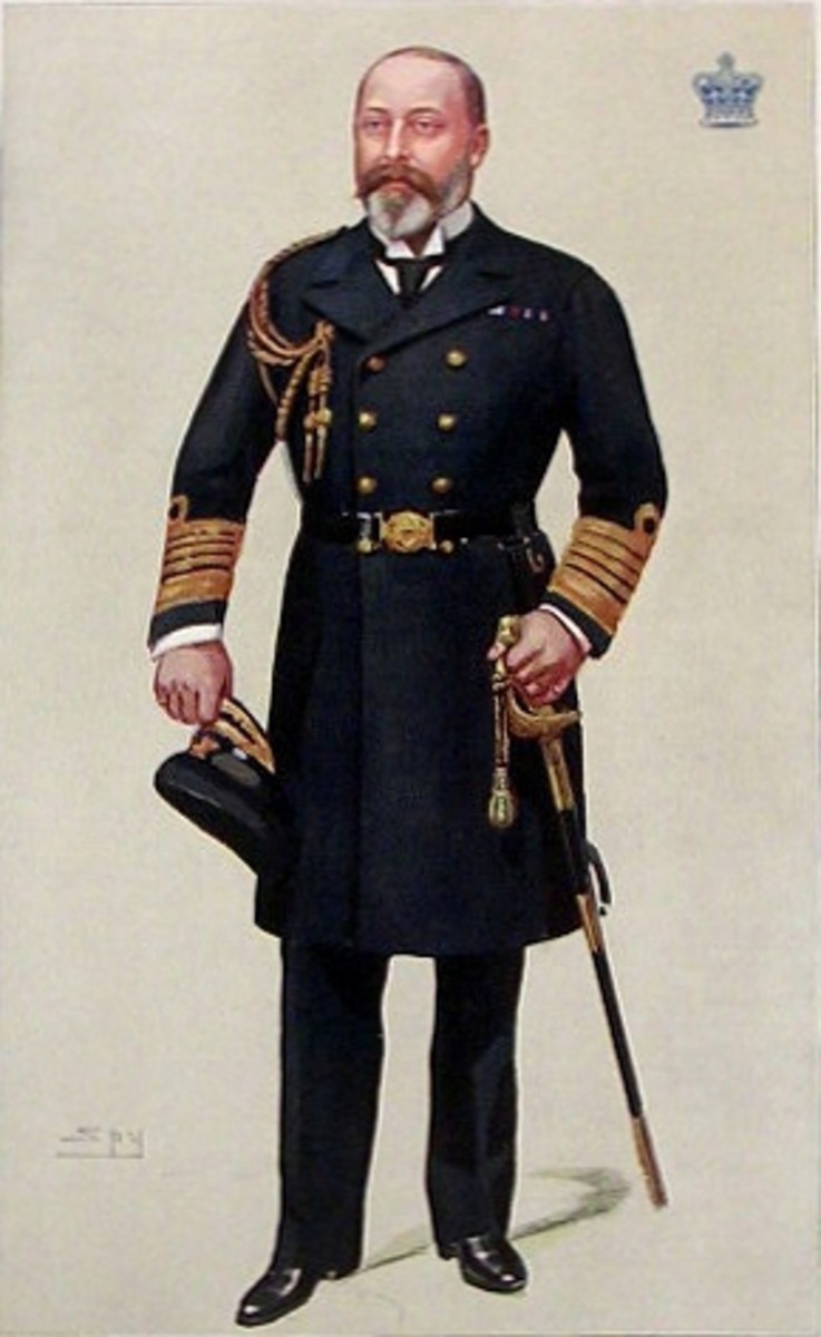 King Edward VII ruled England for only a few years: 1901 to 1910.