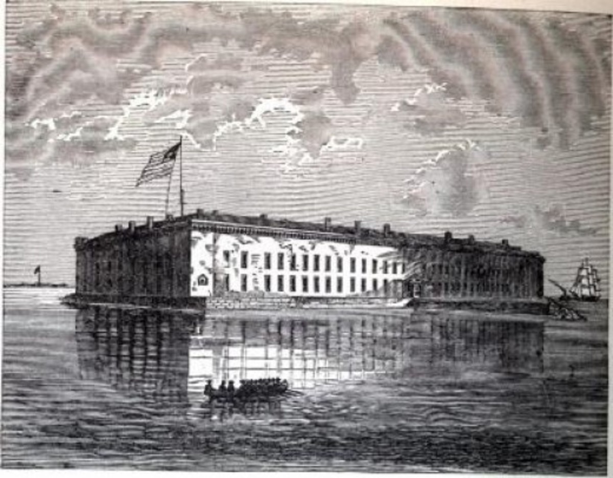 Sketch - Fort Sumter, in Charleston Harbor