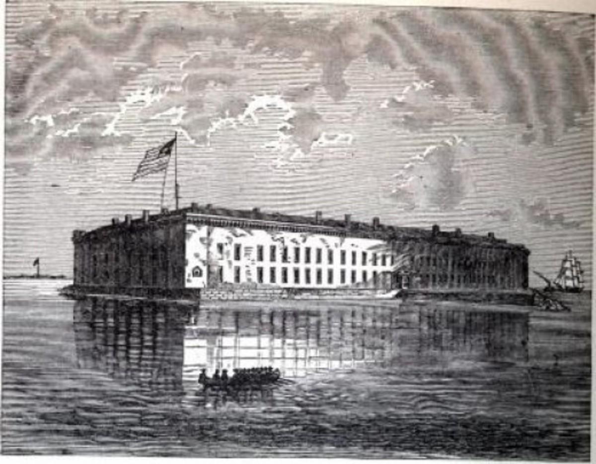 Sketch - Fort Sumter, in Charleston Harbor