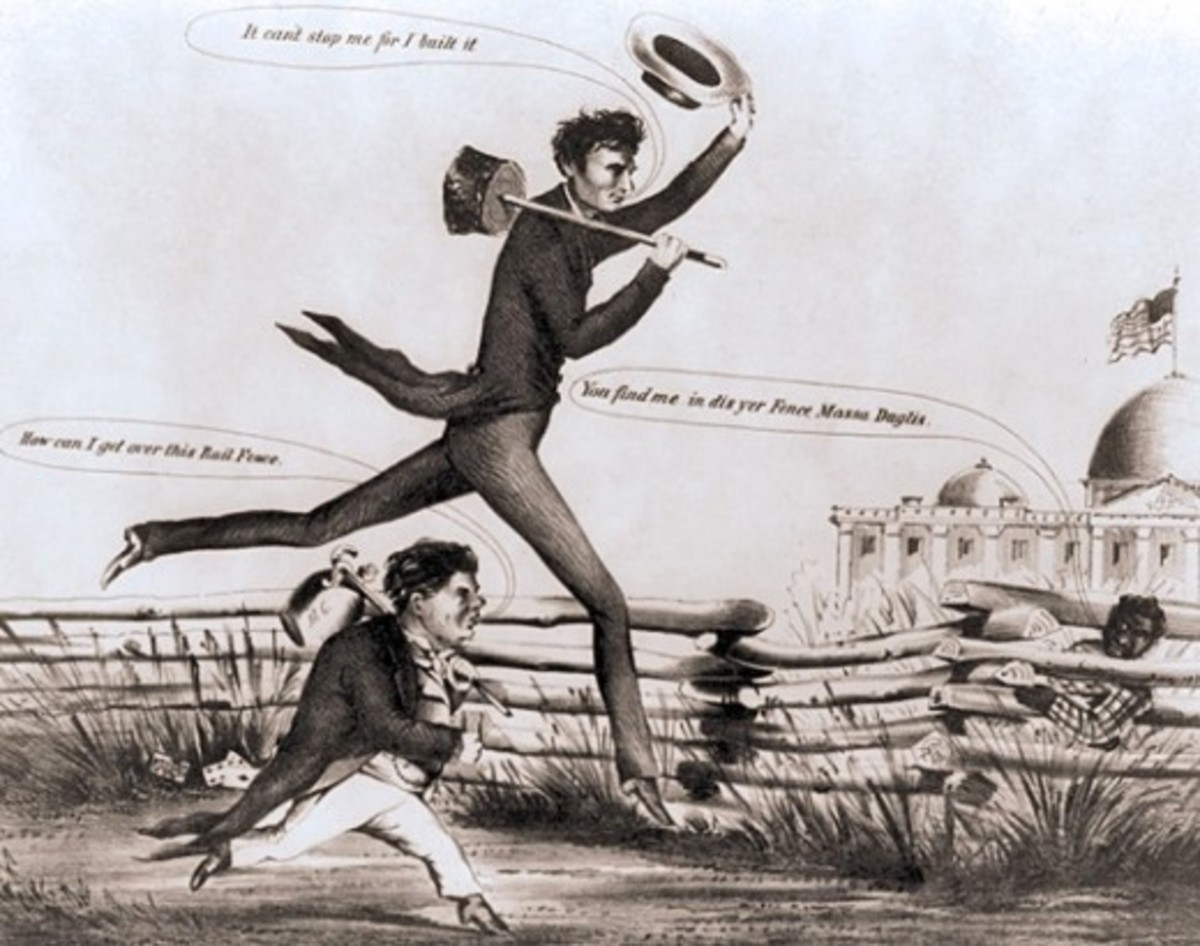 Cartoon - Lincoln wins the 1860 Presidential Election
