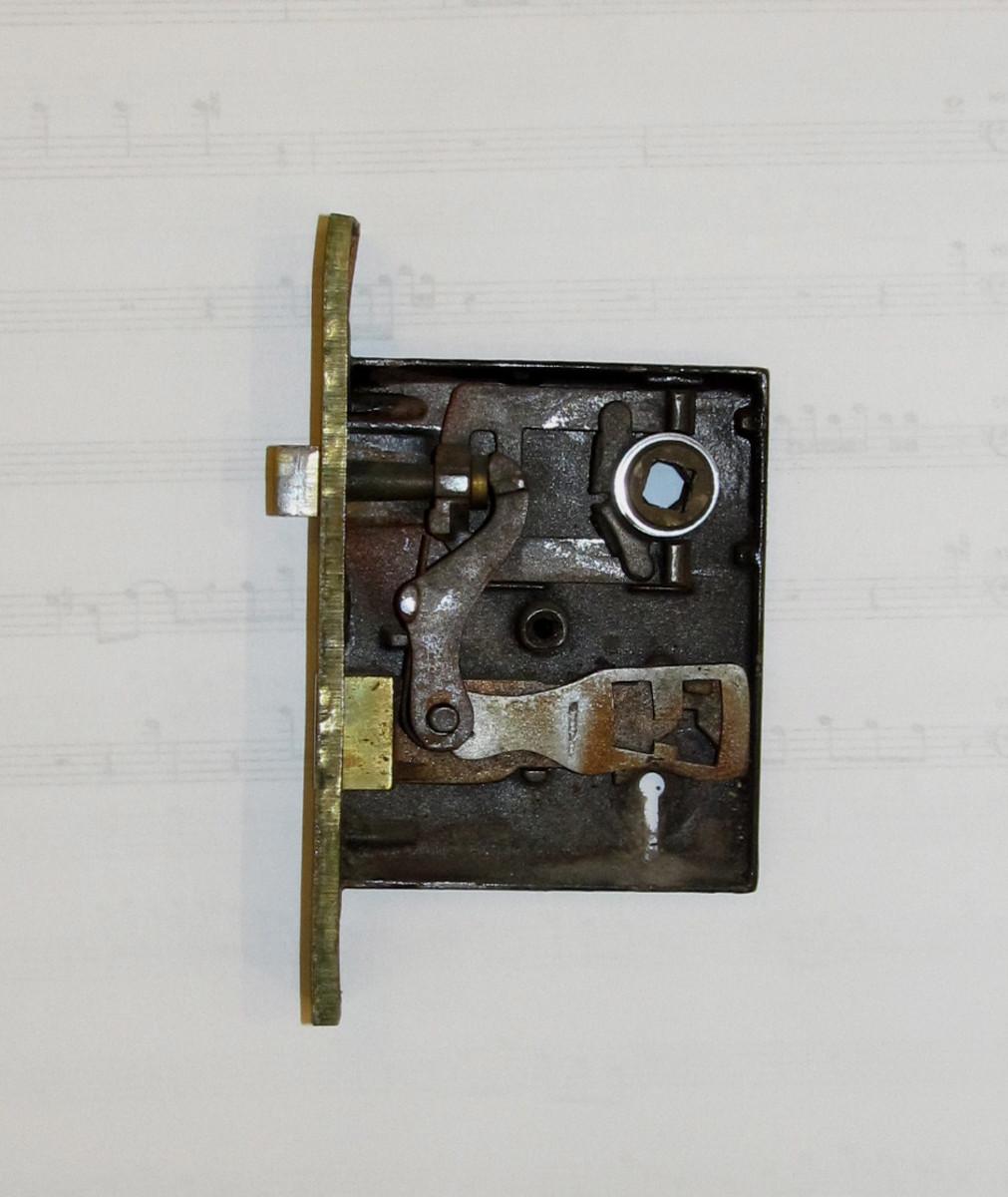 Nashua Lock Company bit key mortise lock, ca. 1902