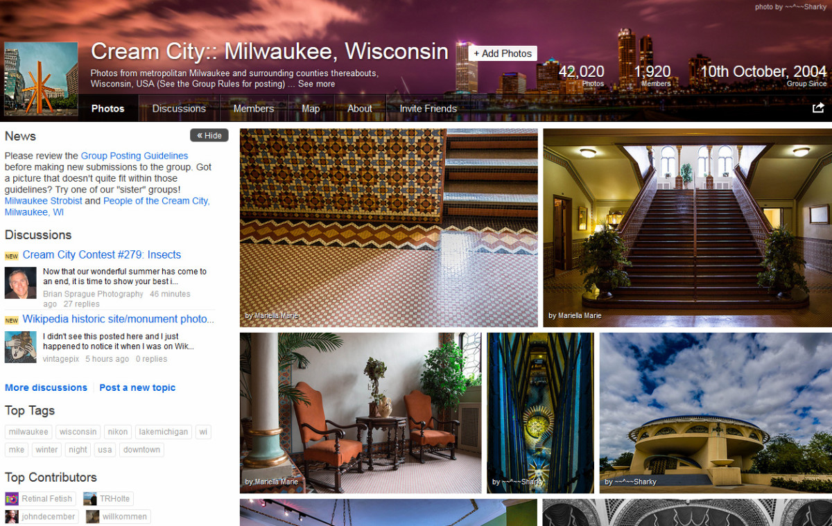 One of my favorite photo sharing websites for finding new Milwaukee photography locations is the Flickr Cream City group.