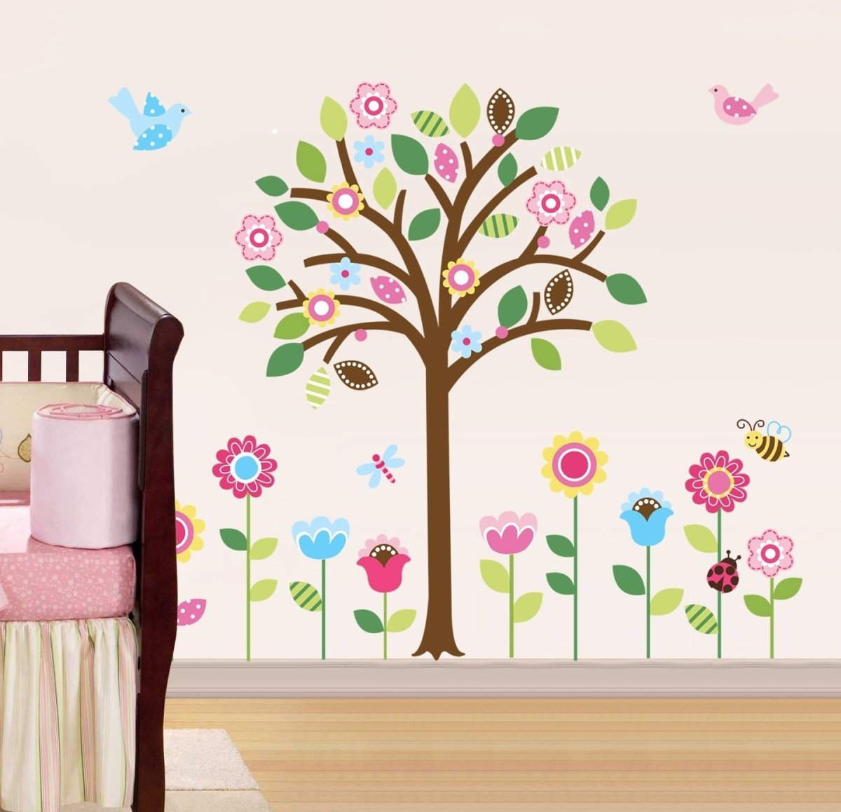Cute Baby Girl's Tree Wall Decal