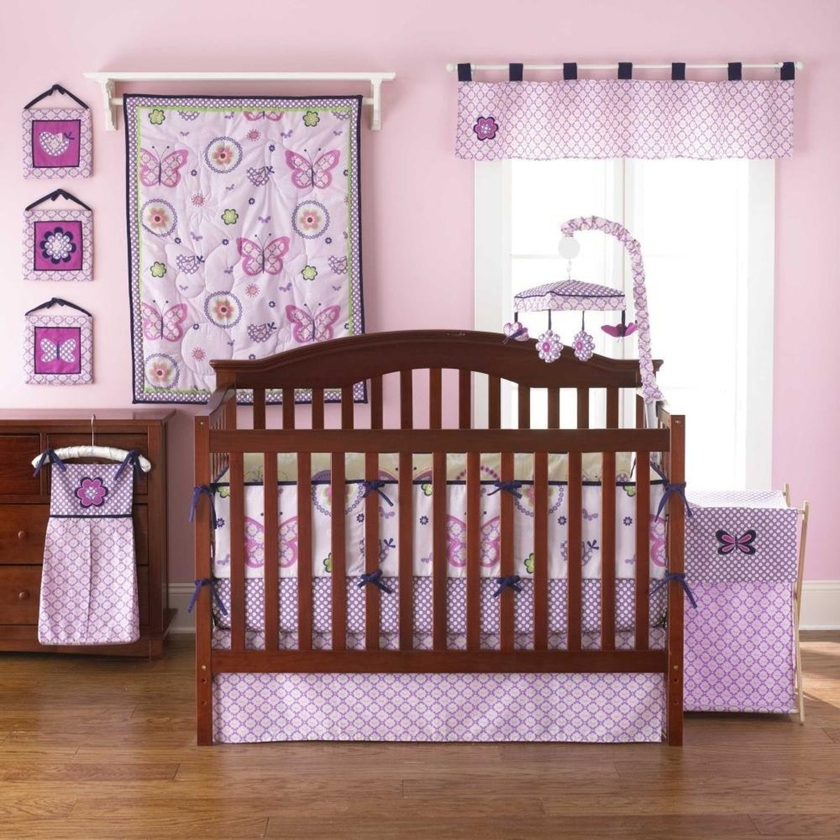 Lavender 4-Piece Mini Crib Bedding Set