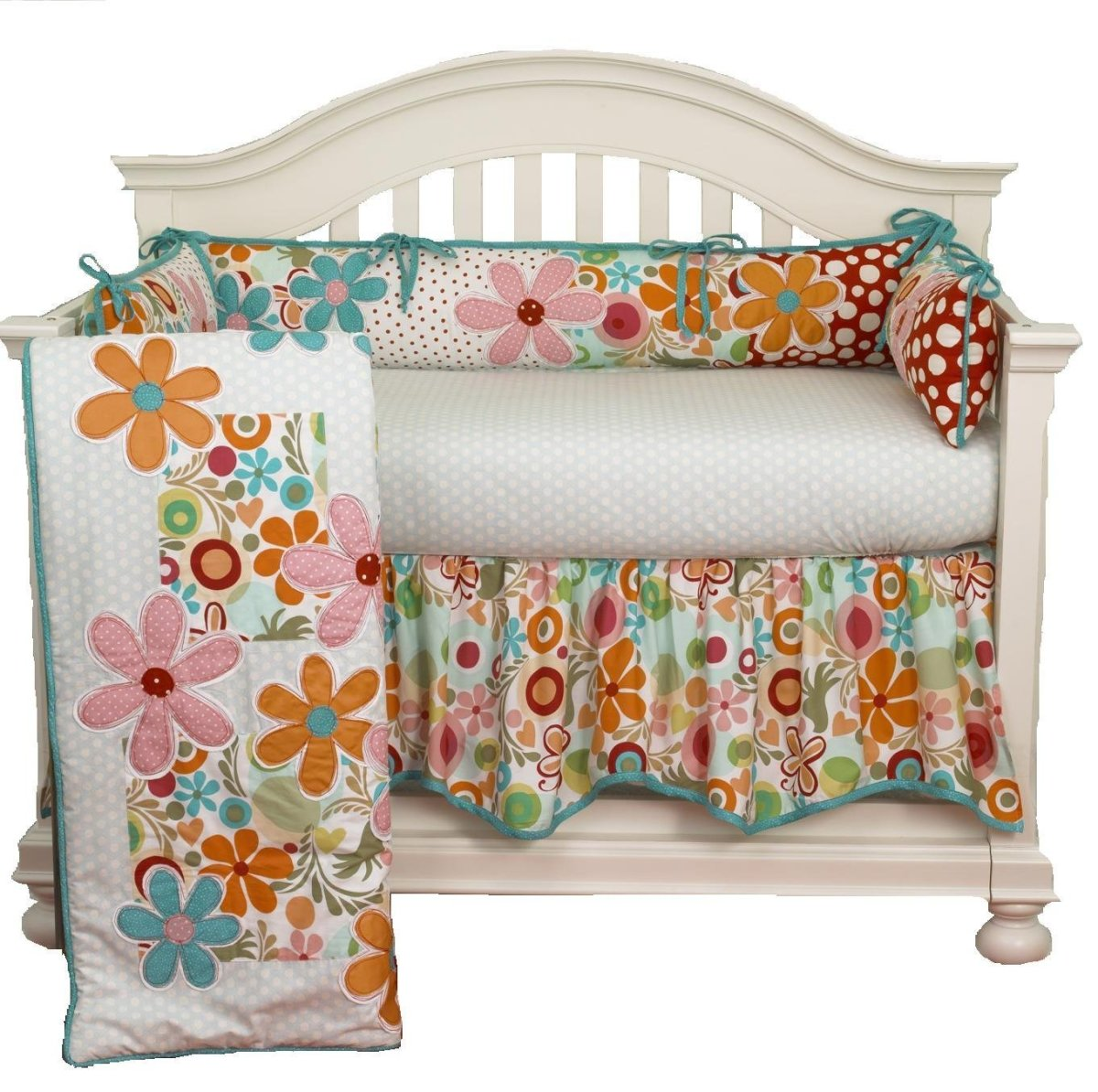 4-Piece Lizzie Mini Crib Bedding Set