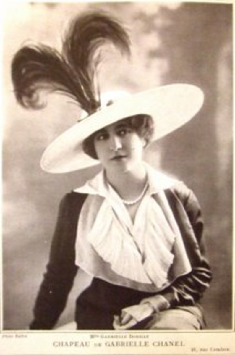 Coco Chanel's first hat design from 1913.