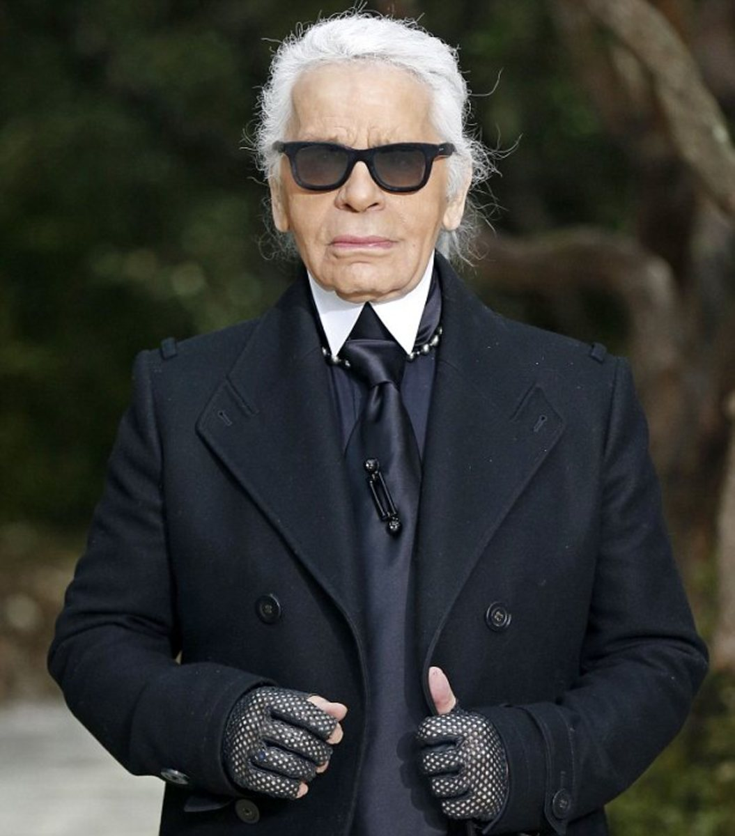 Karl Lagerfeld, the head of the House of Chanel today and its present designer.