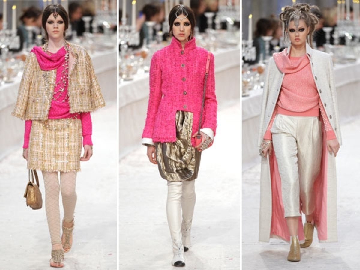 Present day designs from the House of Chanel.