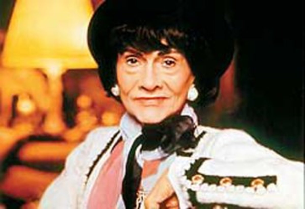 Coco Chanel shortly before her death.