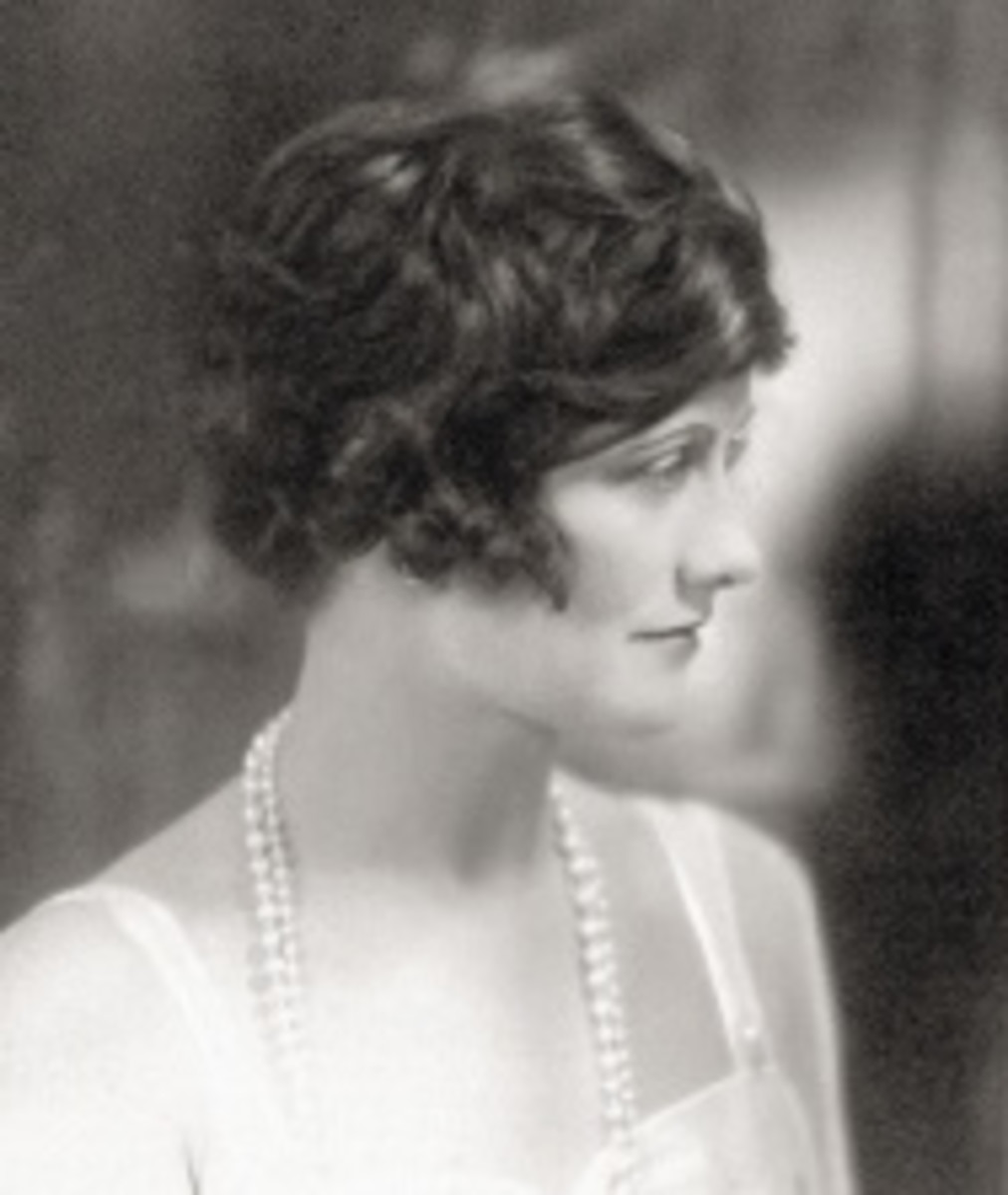 A young Coco Chanel before she became a famous clothing designer.