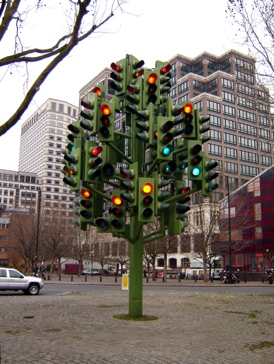 Check out the traffic light tree! Green means GO!