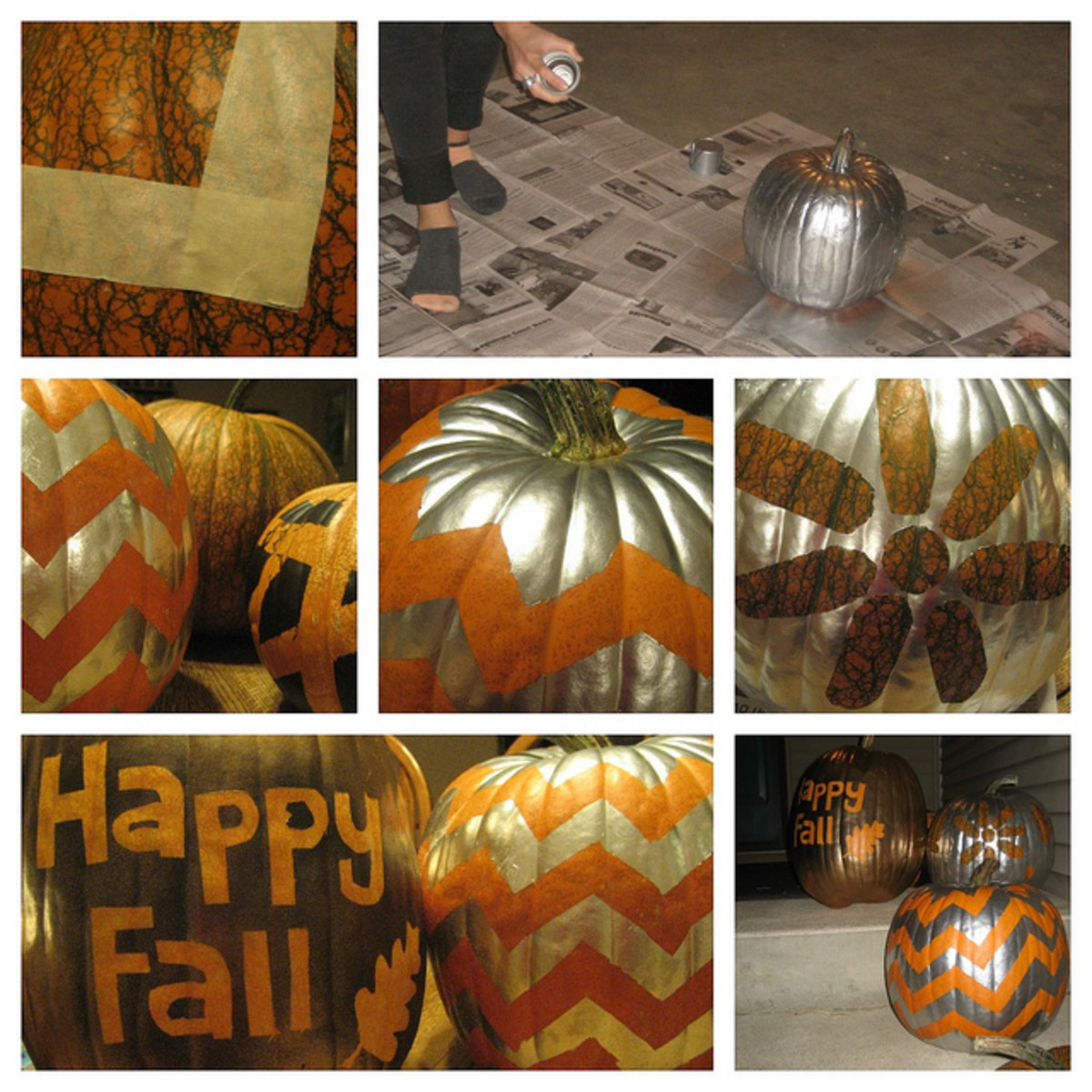 Spray paint beautiful pumpkins this Halloween.