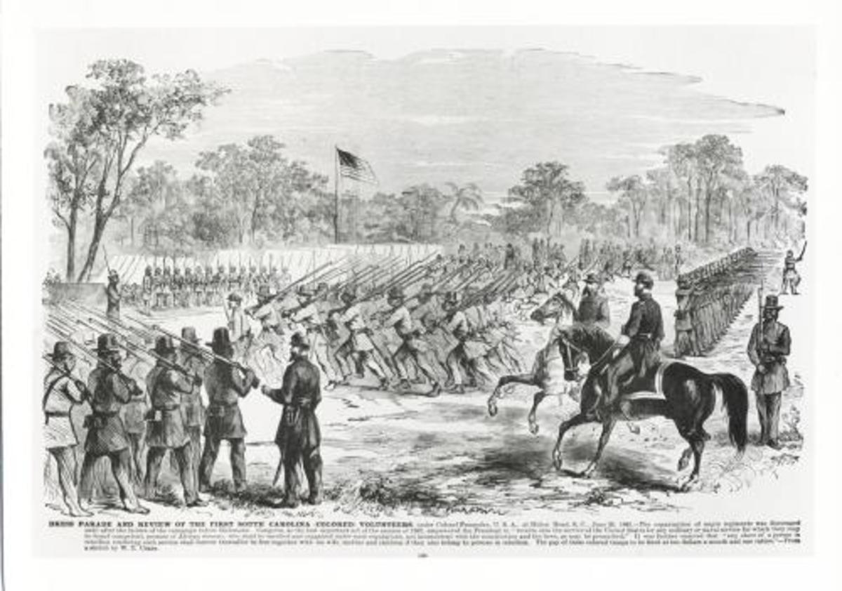 Illustration of Union Volunteer Companies at Drill.