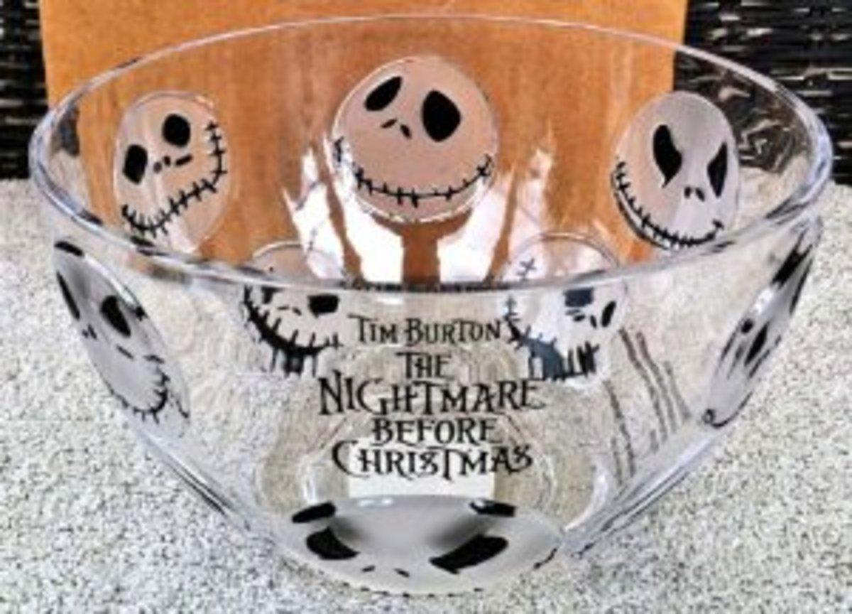 Disney Parks Jack Skellington Nightmare Before Christmas Plastic Cereal or Salad Bowl