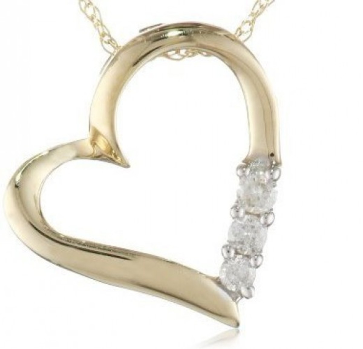 Diamond Heart Necklace Gift for Her