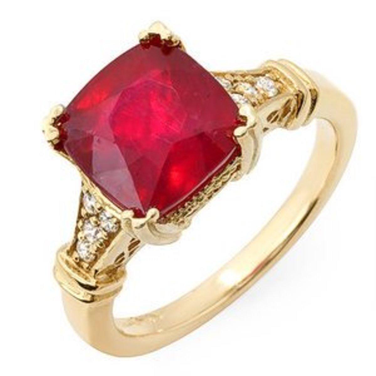5 Carat Genuine Ruby Ring Gift