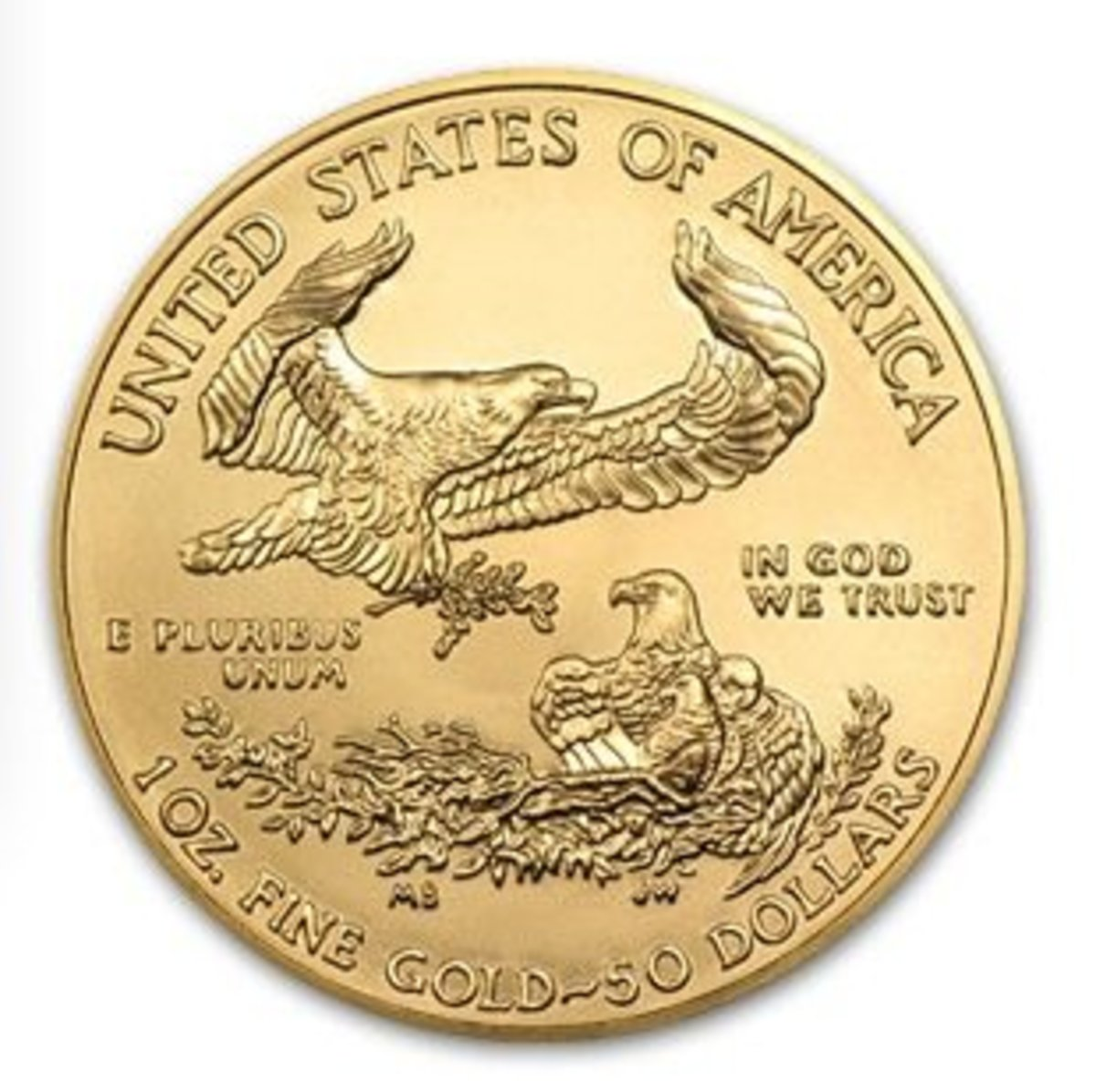 2014 American Gold Eagle Coin Gift – Back
