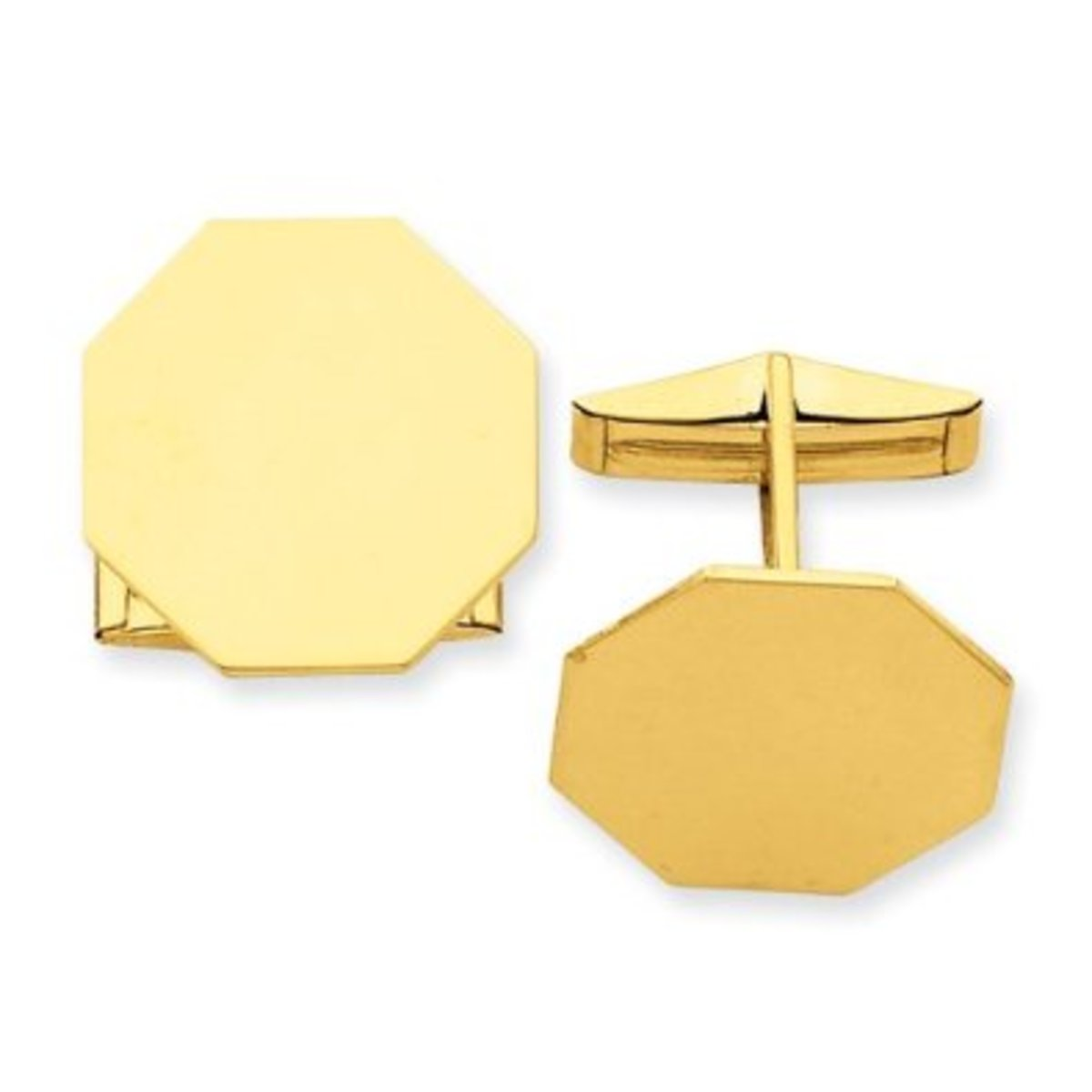 14K Gold Cuff Links Gift