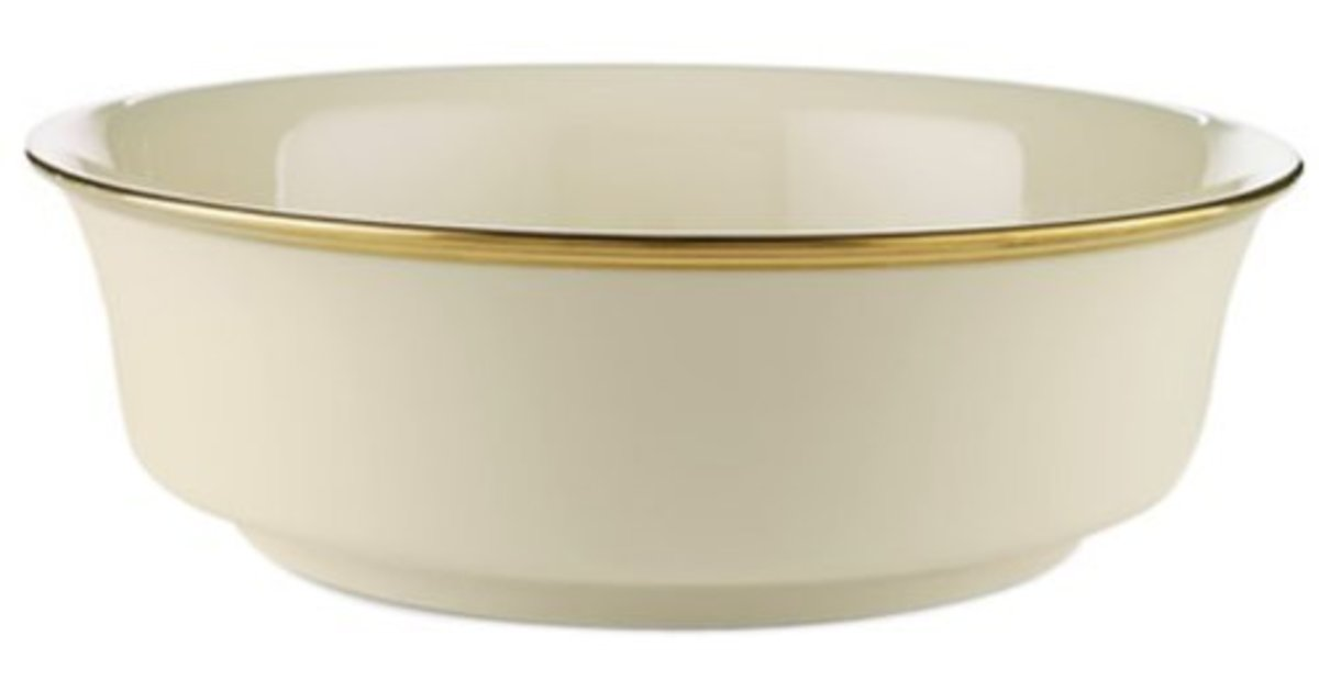 'Eternal' China Pattern Serving Bowl from Lenox