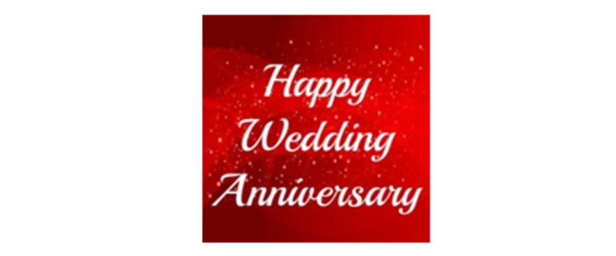 Happy Wedding Anniversary