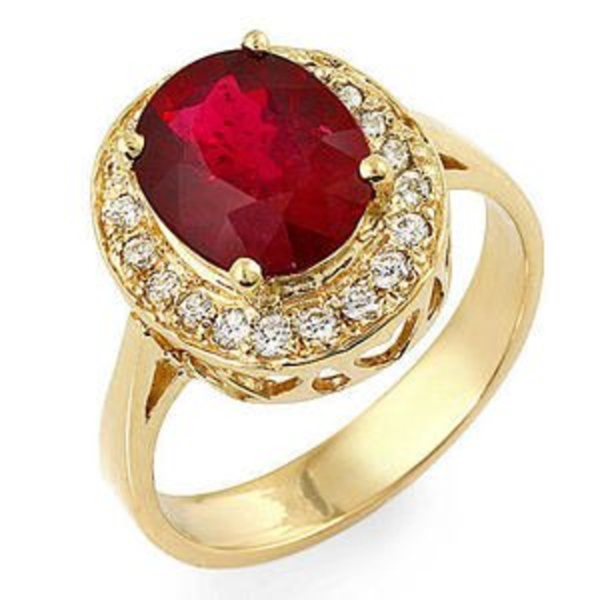 Ruby and Diamond Classic Ring Gift