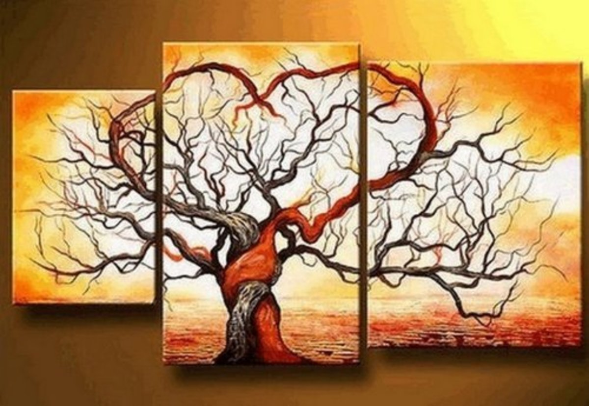 Love Tree Oil Painting