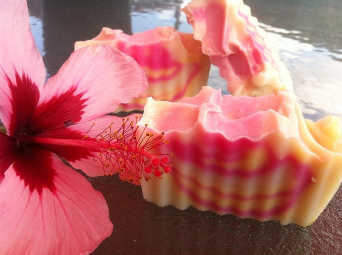 100% Hibiscus Flower Extract Soap