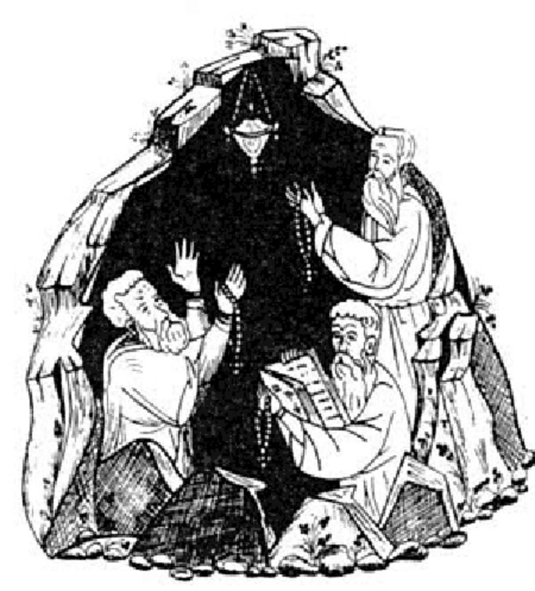 The three hermits were 'taught' how to pray!