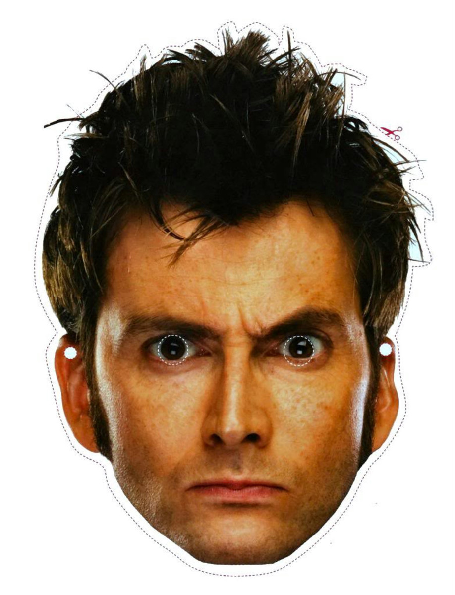 Here's a great Doctor Who mask for you to print, or choose one of the 46 other characters from the longest running sci-fi series on TV.