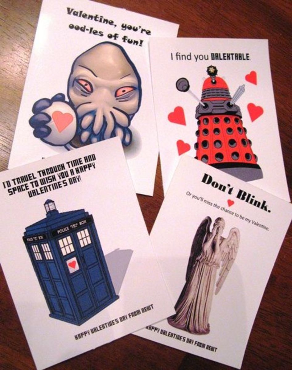 Feeling The Who Love?  Here Are Some Printable Doctor Who Valentine's Day Cards For You To Send To That Special Whovian In Your Life.