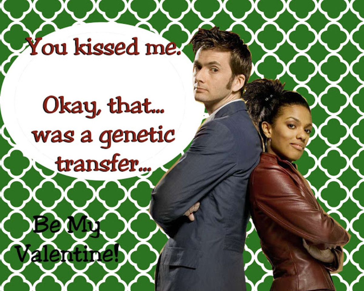 The Doctor And Martha Jones Valentine's Day Card