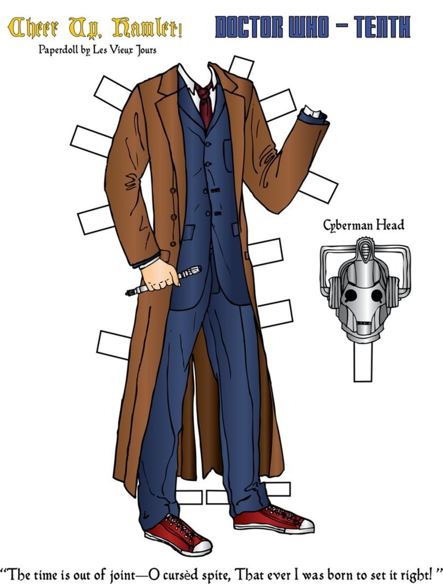 Printable Clothing For The Tenth Doctor Who.