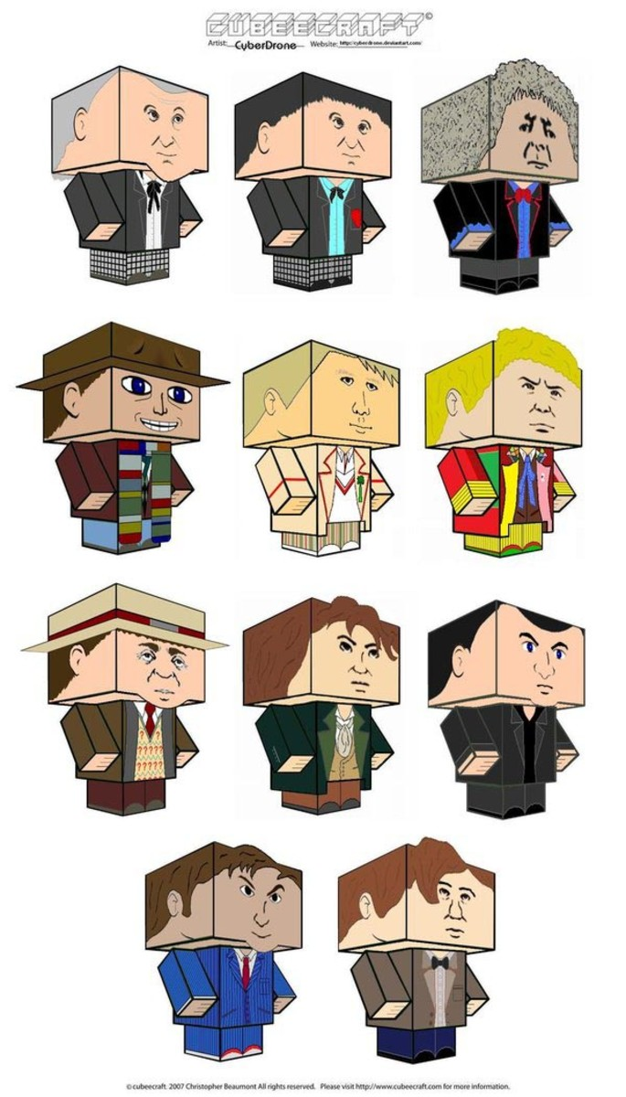 Print Out All The Doctors From Doctor Who.  Who's Your Favorite?