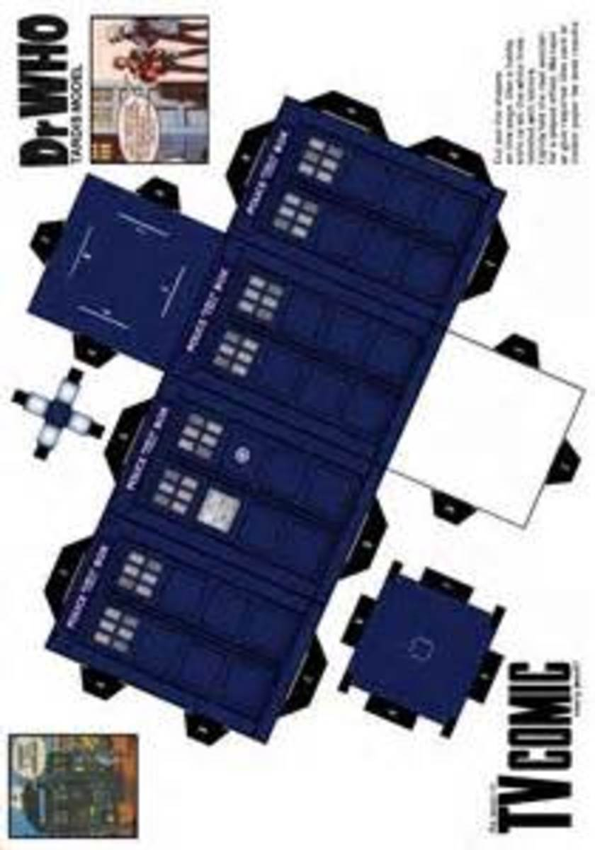 Print Out And Make Your Own TARDIS.  Be A Time Lord.