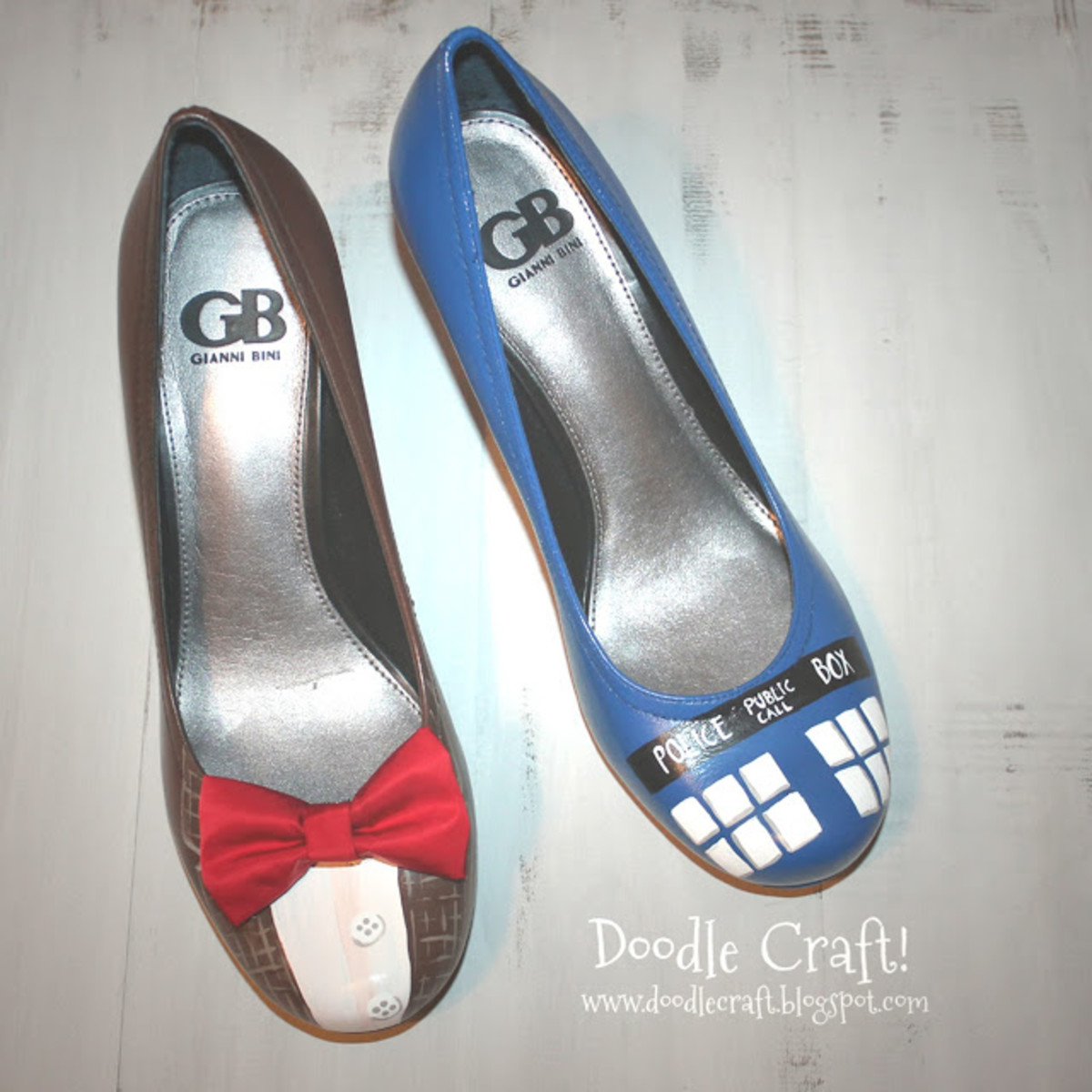 Doctor Who And The TARDIS Shoes.  This Tutorial will show you how to make your very own pair of shoes with a Doctor Who Theme