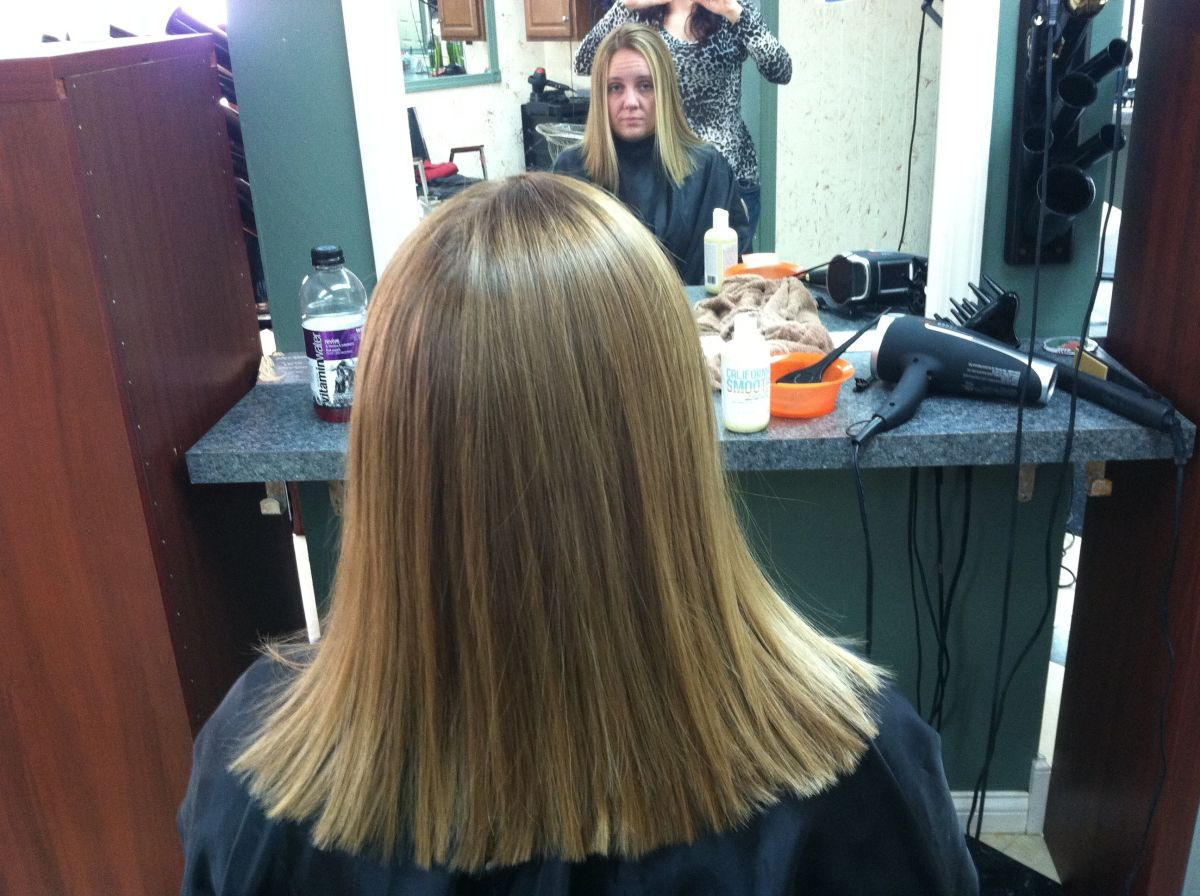 Back of my hair after a Keratin treatment