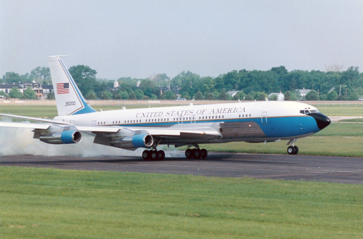 JFK's Boeing VC-137C SAM 26000 (Air Force One) at the National Museum of the United States Air Force in Dayton/Fairborn Ohio.