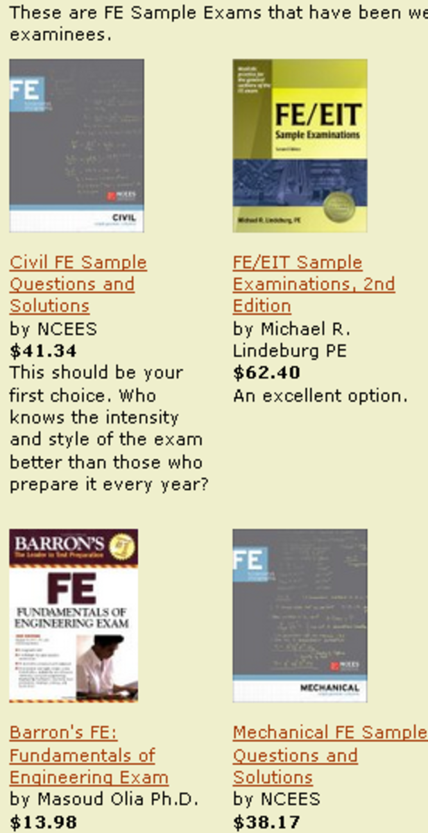Use the link to see the best FE exam study materials.