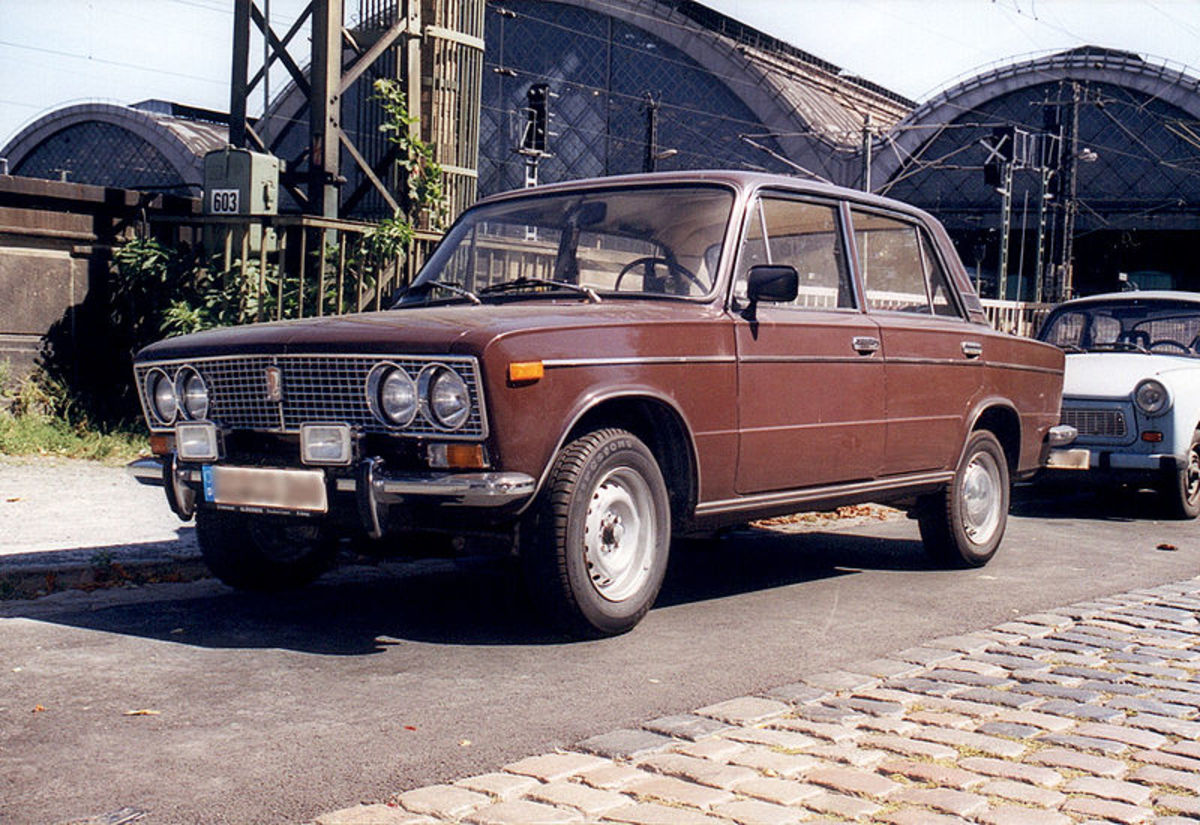 This Lada 500 was built in Russia. The law does not specify how dirty a car must be before the owner is fined.