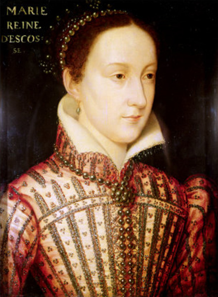 Mary, Queen of Scots was just a week old when she became Queen of Scotland.