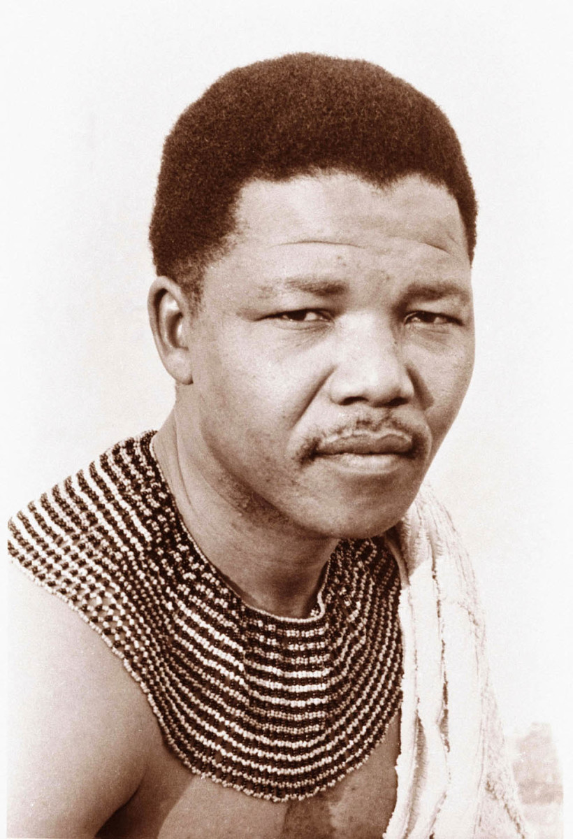 This is an earlier photo of Nelson Mandela, born to be a king in his own right until history intervened and changed the whole paradigm