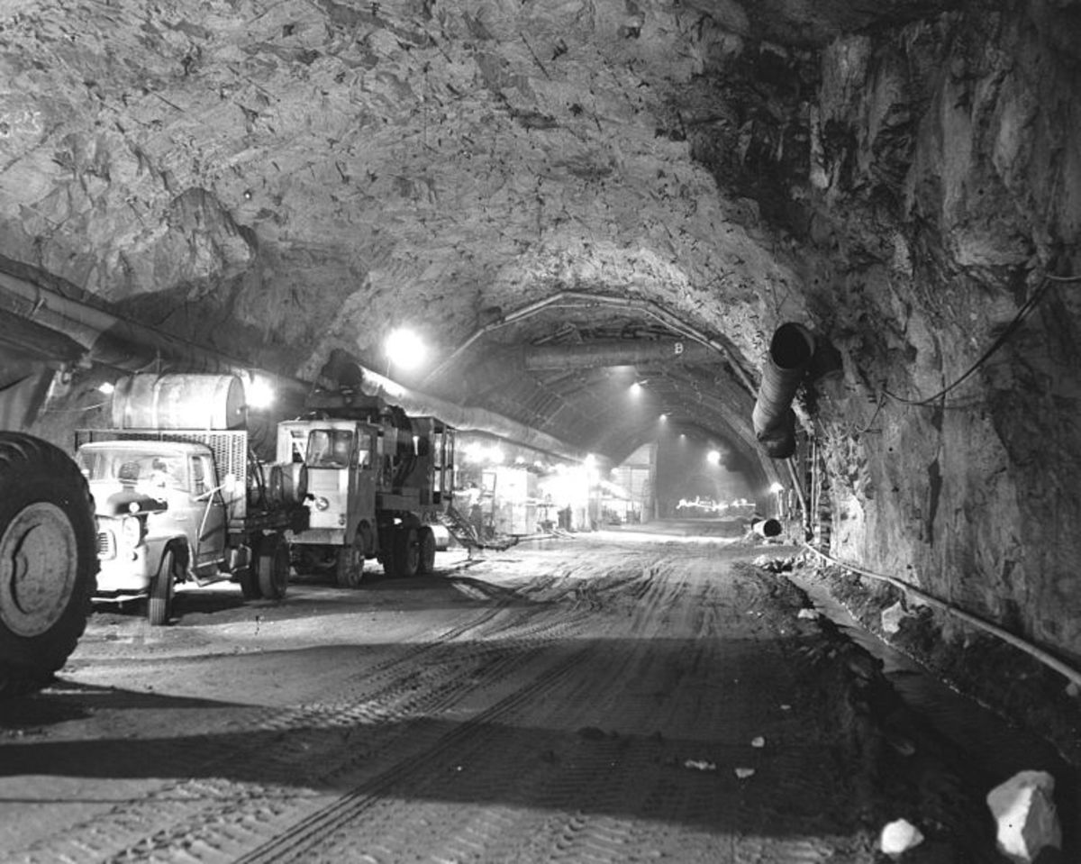 Government facilities were built in Cheyenne Mountain, Colorado in the early 1960s. Underground warehouses were constructed beginning the same time around the USA. Many are expanding in the 2010s.