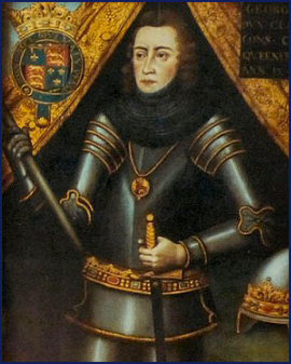 George Plantagenet, Duke of Clarence, was never the same after the death of his wife. Just over a year later, he was arrested and executed for treason, despite being King Edward IV's brother.